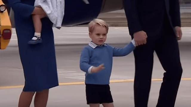 Prince George leaves Canadian PM Justin Trudeau's high five hanging.