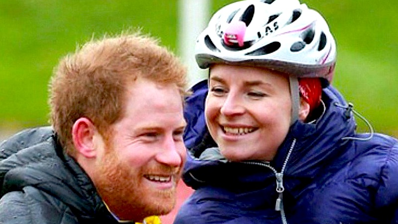 Prince Harry saved a wheelchair-bound athlete from the wind, because he's a prince for real.