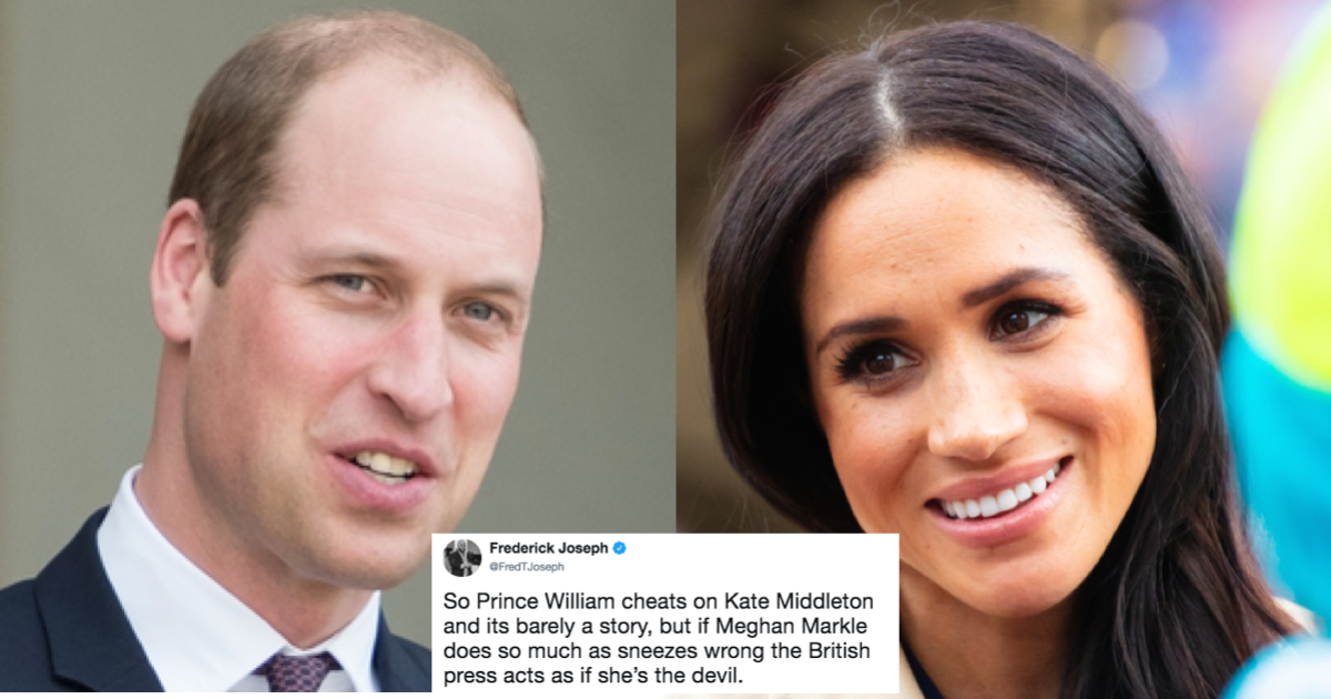 Prince William allegedly boned Kate Middleton's friend, but they want you to talk about Meghan Markle.