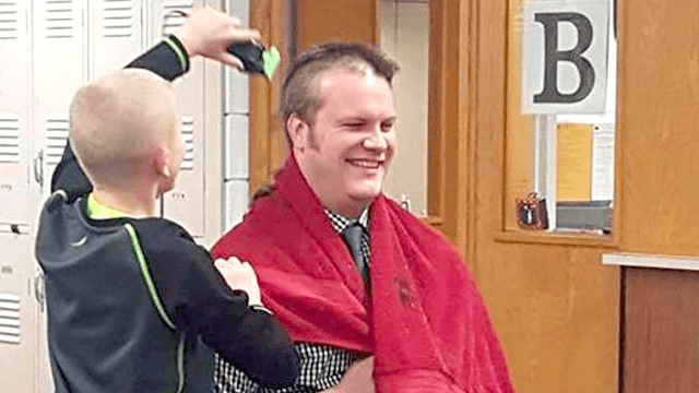 Kid goes bald for the sweetest reason and gets bullied. His principal is ready.