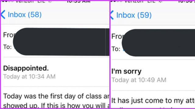 Professor loses it when no one shows up to his online class. Then he realizes his mistake.