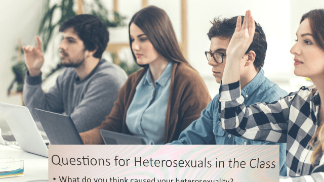 Professor shuts down homophobia in the classroom with 'questions for heterosexuals.' The internet applauds.