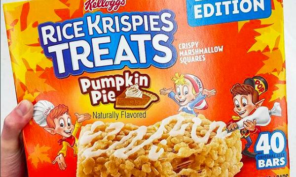 Pumpkin Pie Rice Krispies Treats Join Fall Flavor Trend