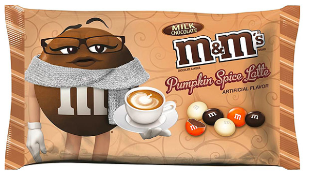 Pumpkin spice latte M&M's are coming because we need more temptation.