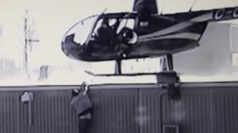 Insane security footage from Quebec jail shows prisoners casually escaping via helicopter.