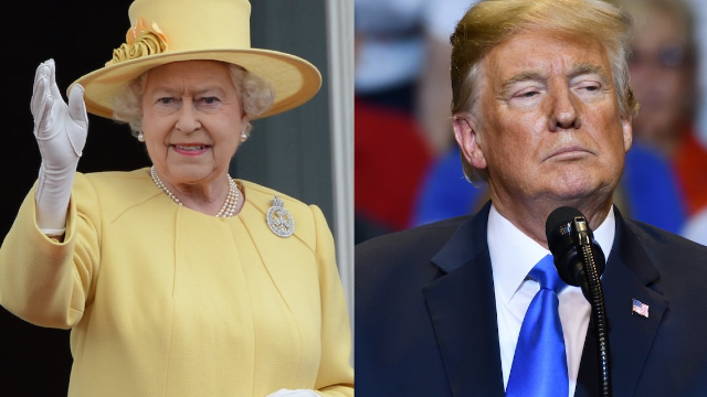 People think Queen Elizabeth was trolling Trump with her outfit and gift choice. Yasss Queen!