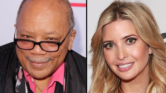 Quincy Jones says he dated Ivanka Trump: 'she's a fine motherf**ker.'