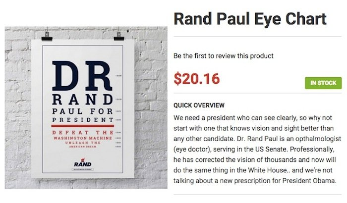 The best thing about Rand Paul running for President is his wacky online store.