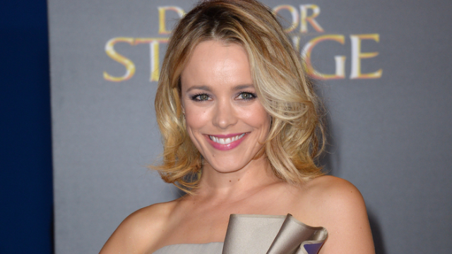 Actress Rachel McAdams pairs Versace with a breast pump on shoot
