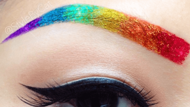 Rainbrows are the newest beauty craze to be exactly what they sound like.