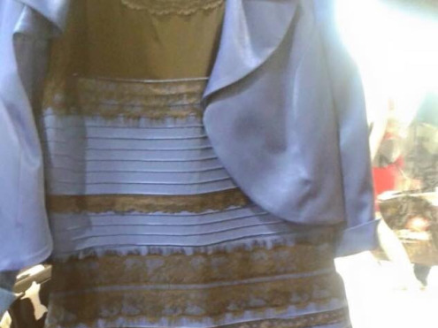 Reality itself may crumble because no one can agree what color this dress is.