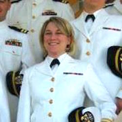 Rebecca Landis Hayes, looking fierce in her Navy uniform.