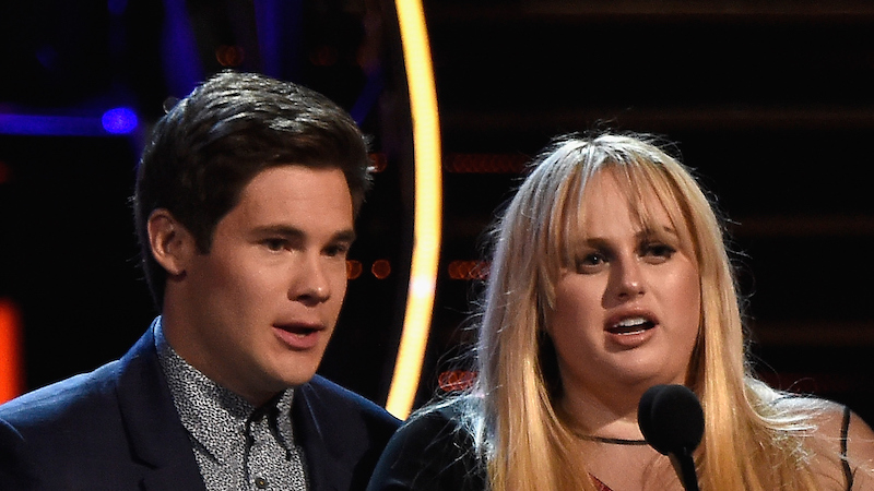 Rebel Wilson and Adam Devine got freaky at the MTV Movie Awards after winning Best Kiss.