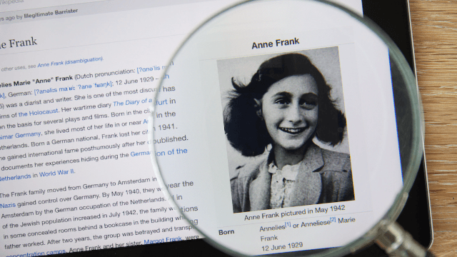 Somebody thought it would be a good idea to make an Anne Frank Halloween costume. They were wrong.