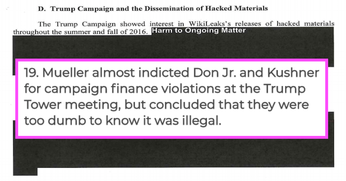 Terms Of Use >> The 27 juiciest revelations from the Mueller report that ...
