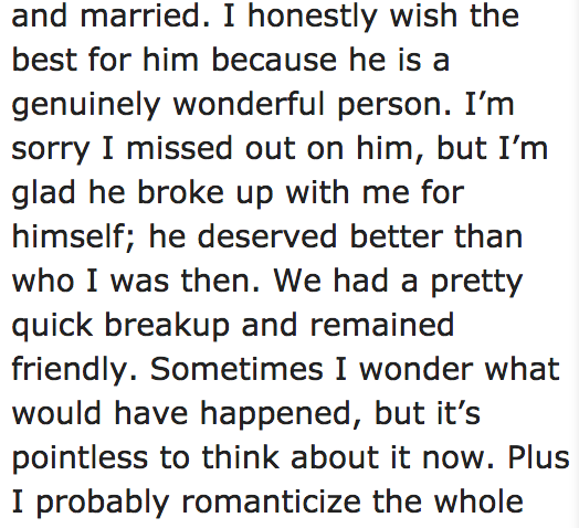 12 people share the moments they regretted their break-ups  Don't