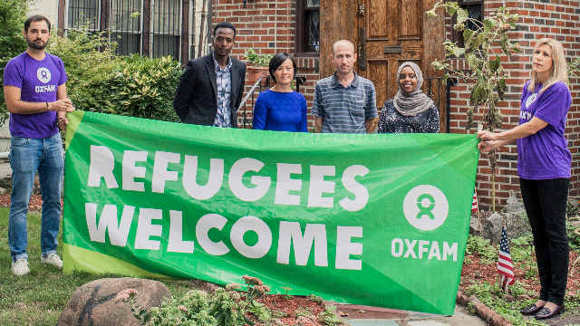 Refugees were recently welcomed into Trump's childhood home. Oh, the irony!