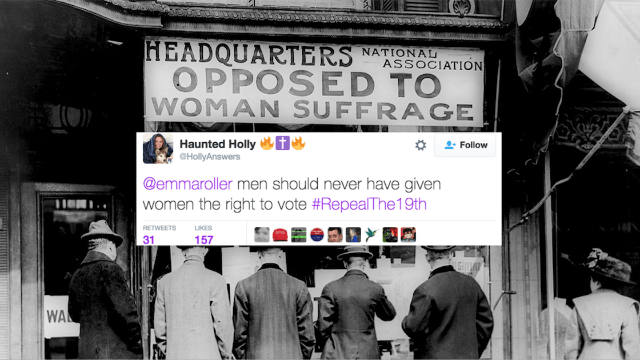 No, alt-right Trump supporters did not start using #RepealThe19th today. They've used it since day one.