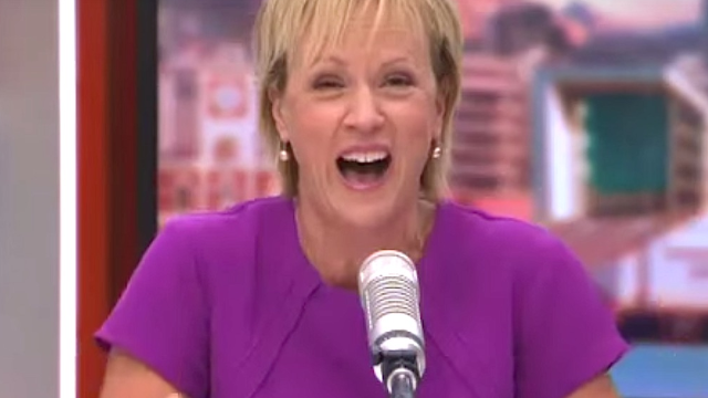 New Zealand reporter Hilary Barry loses it over an 'emergency defecation situation,' can't stop laughing as she moves on to serious news.