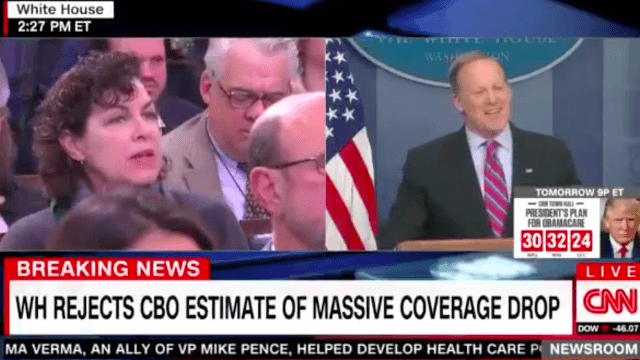 This reporter falling asleep during Sean Spicer's press briefing is all of us.