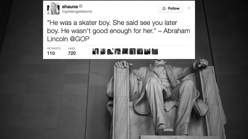 Republicans tweeted a fake Abraham Lincoln quote and now everybody's getting in on the fun.