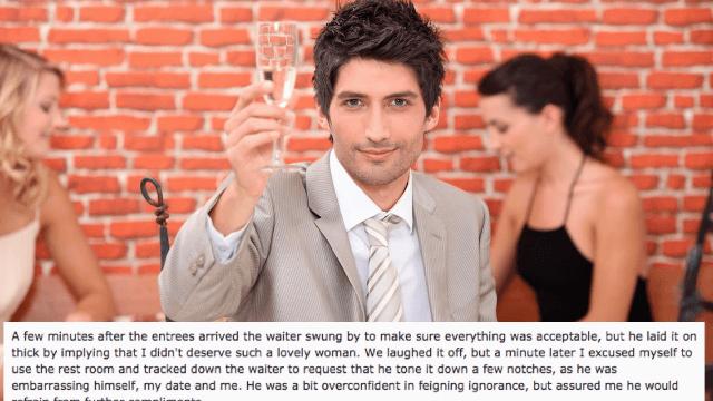 Super suave guy gets the ultimate revenge against 'jerk waiter' hitting on his date.
