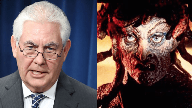 Rex Tillerson apparently won't let diplomats look into his cold, dead eyes.
