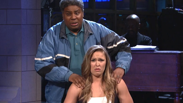 Ronda Rousey used her MMA skills to win her 'SNL' monologue.