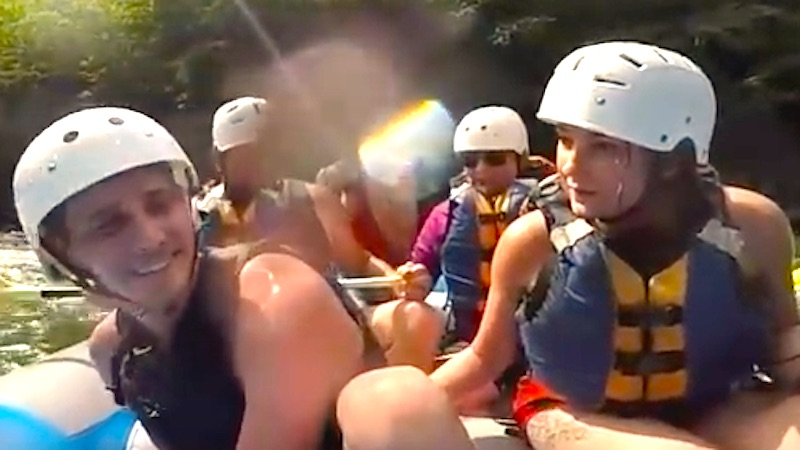 This man made the mistake of proposing while in the middle of white water rafting.