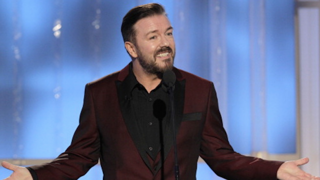Here are Ricky Gervais' best, most controversial Golden Globes jokes to get you excited/scared for his return.