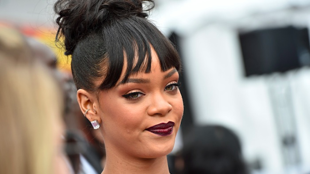 Rihanna had a message for her haters last night. Actually, her dress did.