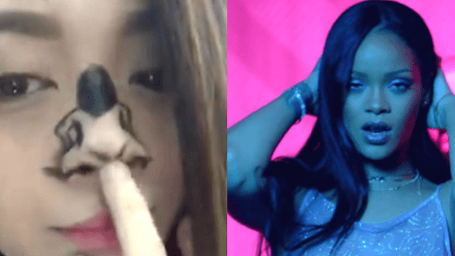 The best Rihanna impersonation is this girl's painted nose twerking to 'Work.'