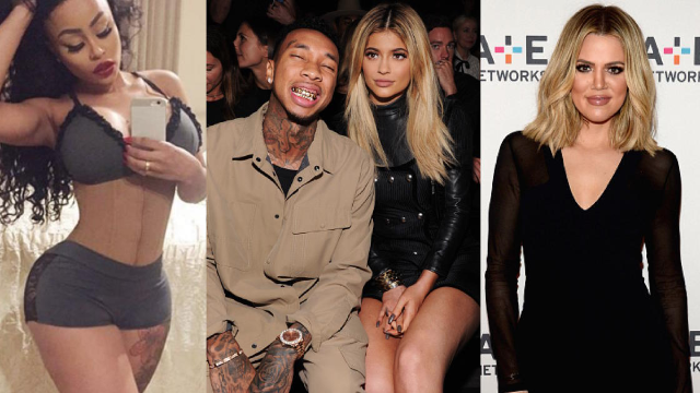 The Kardashians got entangled in a confusing, but hilarious, online feud with Tyga's ex.