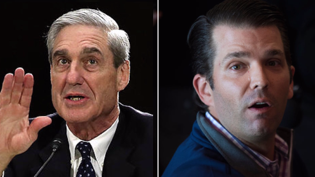 Robert Mueller and Don Jr. were spotted at the same airport gate. The internet had a caption contest.
