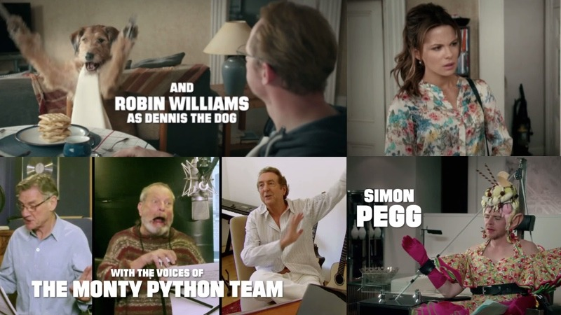 Robin Williams, the Monty Python members, Simon Pegg & Kate Beckinsale are all in a new movie.