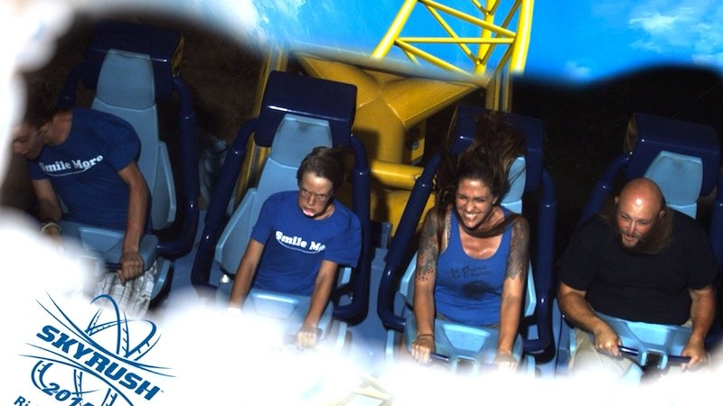"""This roller coaster photo will haunt my son forever,"" says dad who posted it online."