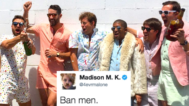 There is now a romper for men called a 'RompHim' and Twitter is not romp-here for it.