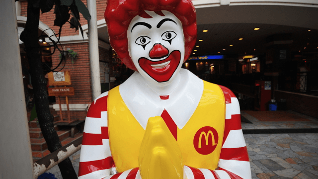 Ronald McDonald is the latest casualty of America's creepy clown epidemic.