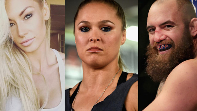 UFC fighter Ronda Rousey was criticized on Instagram by the wife of the man she's dating.