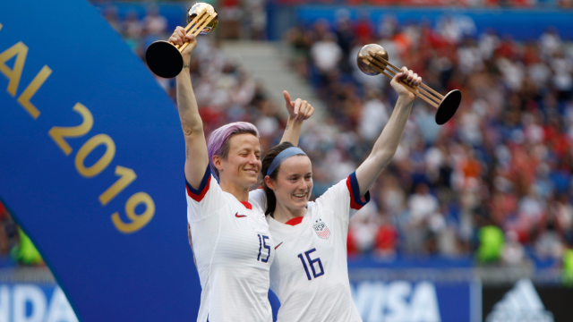 Soccer star Rose Lavelle's elementary school shared her book report on Mia Hamm, and it deserves a trophy.