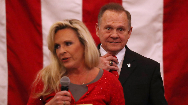 Roy Moore's wife gives speech explaining why they aren't anti-Semitic. Mouths are still ajar.
