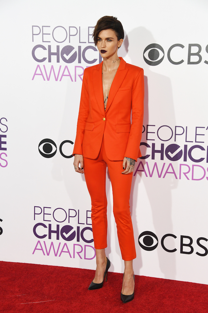 From top to bottom, Ruby Rose's outfit was utter red hot perfection.