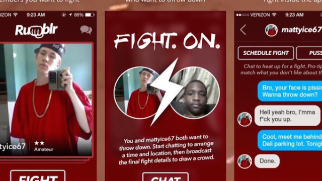 New 'Tinder for fighting' app is insane but still probably safer than Tinder.