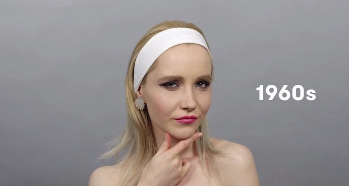Here are 100 years of Russian beauty trends in 90 seconds.