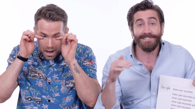 Ryan Reynolds and Jake Gyllenhaal answer the most-Googled questions about themselves.