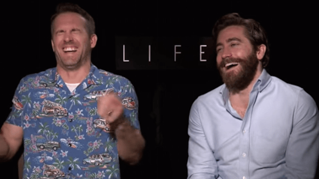 Watch Ryan Reynolds and Jake Gyllenhaal giggle their way through an interview.