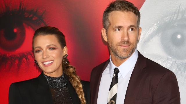 Blake Lively gave Ryan Reynolds a painting and he joked he'd save it before her in a fire.