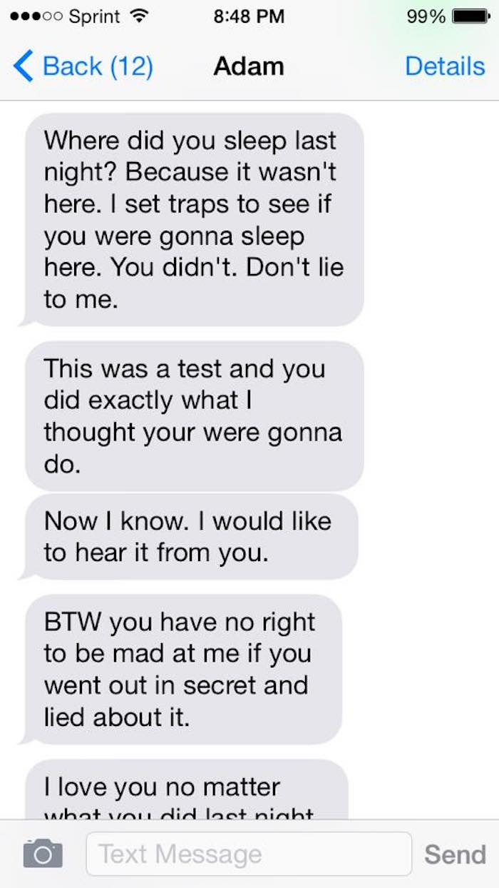 Woman shares the disturbing texts from her abusive ex