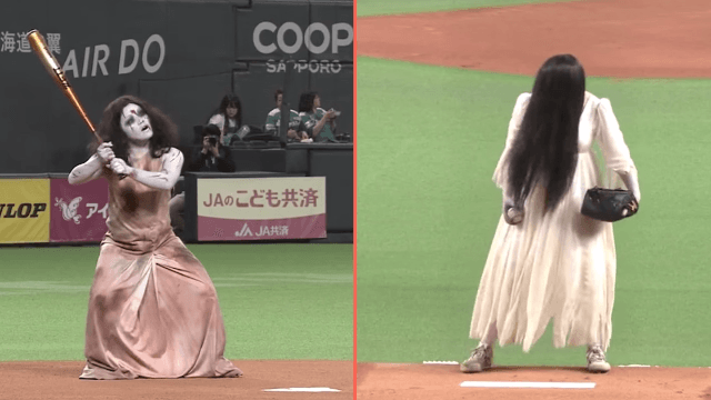 The creepy girls from 'The Ring' and 'The Grudge' face off for control of Japanese screams.