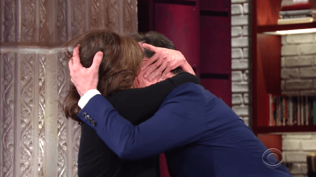 Sally Field straight-up started making out with Stephen Colbert on TV.